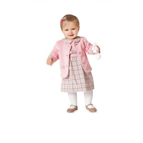 Patron n°9422 : Ensemble Veste, Robe pour bébé
