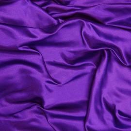 Tissu Satin de Soie uni Violet x10cm