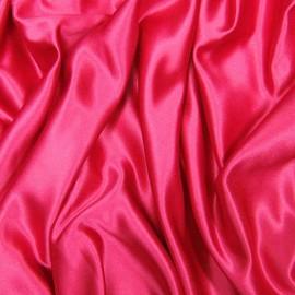 Tissu Satin de Soie uni Fuschia x10cm