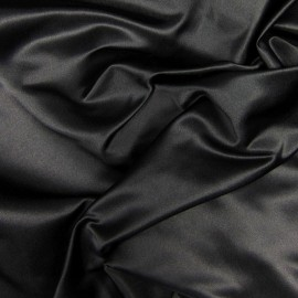 Tissu Satin de Soie uni Noir x10cm