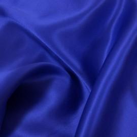 Tissu Satin de Soie uni Bleu roy