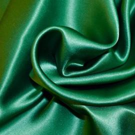 Tissu Satin de Soie uni Vert sapin x10cm