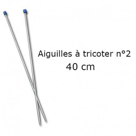 Aiguilles à tricoter 40cm n°2