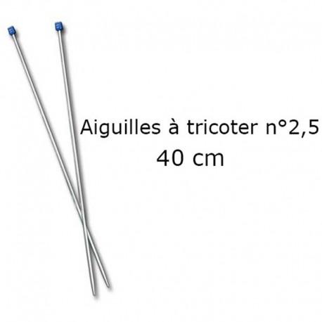 Aiguilles à tricoter 40cm n°2,5