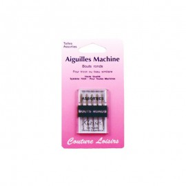 Aiguilles machine bouts ronds assorties (x5)