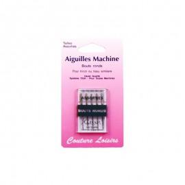 Aiguilles machine bouts ronds assorties (x5)