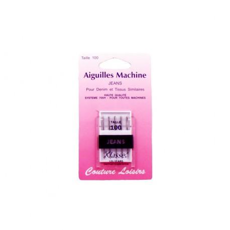 Aiguilles machine jean's (x5) - 100/16