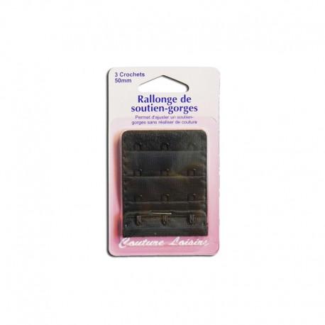 Rallonge de soutiens-gorge - 50mm Noir
