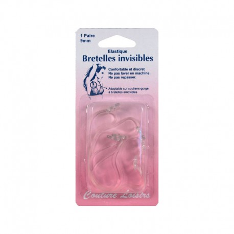 Bretelles invisibles Transparent 9mm