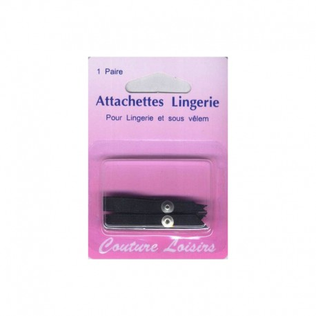 Attachettes lingerie Noir