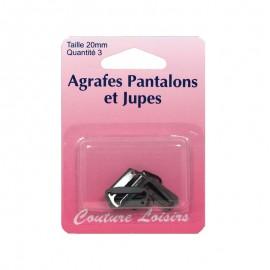 Agrafes 20mm Pantalons Jupes noires