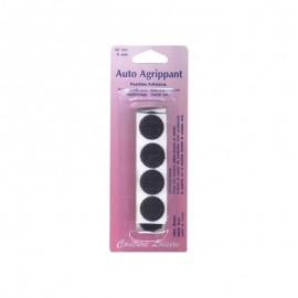 Pastilles adhésives noires 20mm (x8)