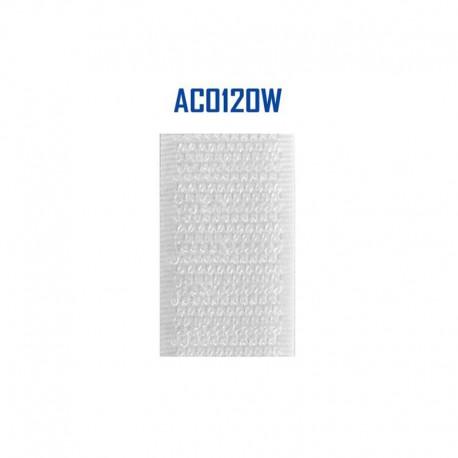 25m Auto-Agrippant Blanc 20mm Crochet
