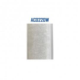 25m Auto-Agrippant Blanc 20mm Velours