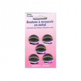 Boutons métal n°22 à recouvrir (x5)