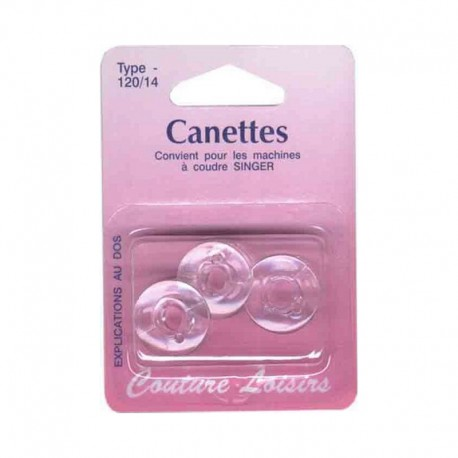 Canettes Singer plastique type 66 (x3)