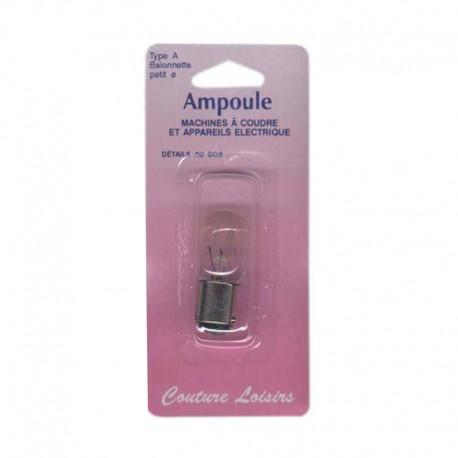 Ampoule 15w/240v baïonnette courte