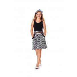 Patron n°9489 : Robe et jupe pour fille