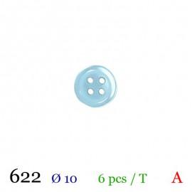 Tube 6 boutons bleu Ø 10mm