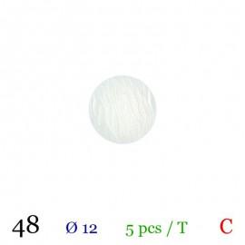 Tube 5 boutons blanc Ø 12mm