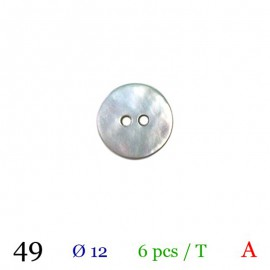Tube 6 boutons gris nacré Ø 12mm