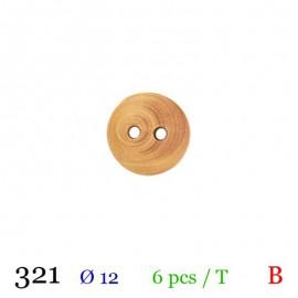 Tube 6 boutons rond bois Ø 12mm