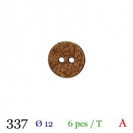 Tube 6 boutons bois usé Ø 12mm