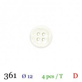Tube 4 boutons blanc Ø 12mm