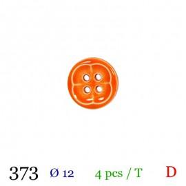 Tube 4 boutons orange Ø 12mm