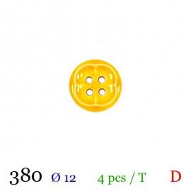 Tube 4 boutons jaune Ø 12mm