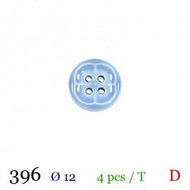 Tube 4 boutons bleu Ø 12mm