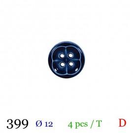 Tube 4 boutons marine Ø 12mm