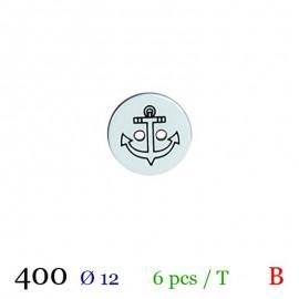 Tube 6 boutons marin bleu Ø 12mm