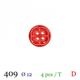 Tube 4 boutons rouge Ø 12mm
