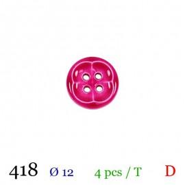 Tube 4 boutons fuchsia Ø 12mm