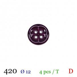 Tube 4 boutons violet Ø 12mm