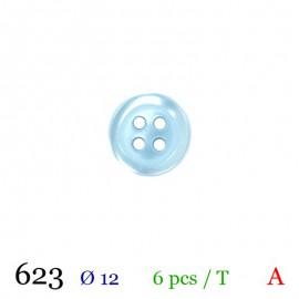 Tube 6 boutons bleu Ø 12mm