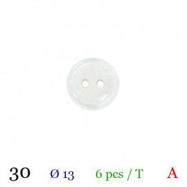Tube 6 boutons blanc Ø 13mm