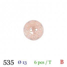 Tube 5 boutons ronds rose Ø 13mm