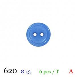 Tube 6 boutons bleu Ø 13mm