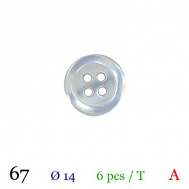 Tube 6 boutons gris perle Ø 14mm