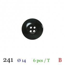 Tube 6 boutons vert foncé Ø 14mm