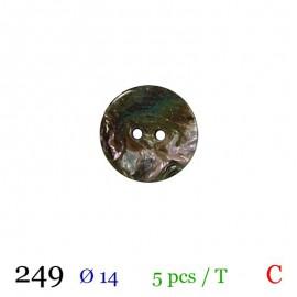 Tube 5 boutons gris nacré Ø 14mm