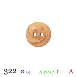 Tube 4 boutons en bois Ø 14mm