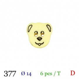 Tube 6 boutons chien jaune Ø 14mm