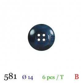 Tube 6 boutons bleu marine Ø 14mm