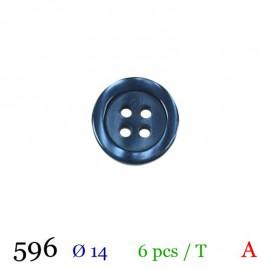Tube 6 boutons marine Ø 14mm