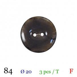 Tube 3 boutons marron Ø 20mm