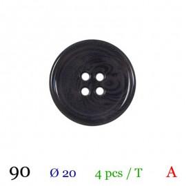 Tube 4 boutons gris foncé Ø 20mm