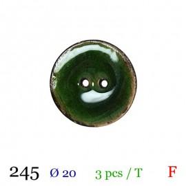 Tube 3 boutons vert Ø 20mm